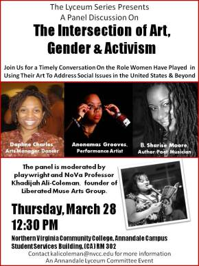 The Intersection of Art, Gender & Activism Panel Discussion on March 28