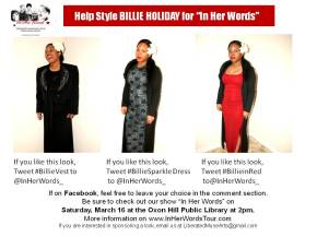 Day Two and We Need Your Help to #StyleBillieHoliday